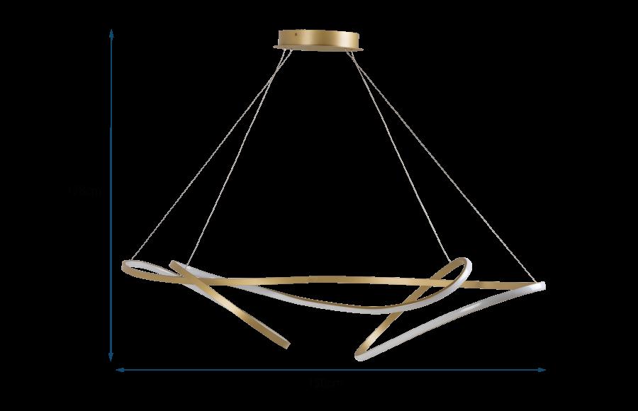 Ribbon LED Ceiling Pendant XL Satin Gold