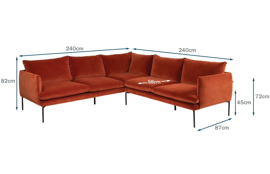 Matera Large Corner Sofa Technical