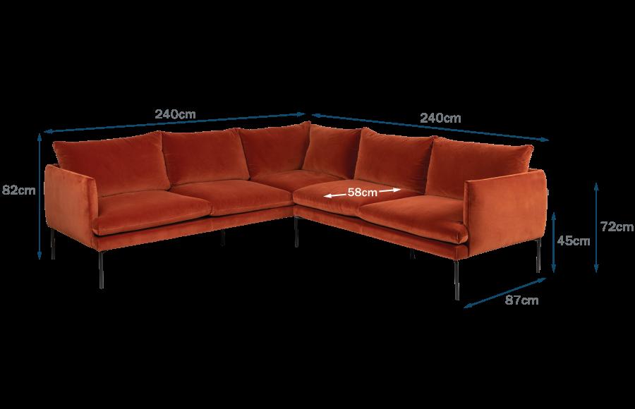 Matera Large Corner Sofa Technical