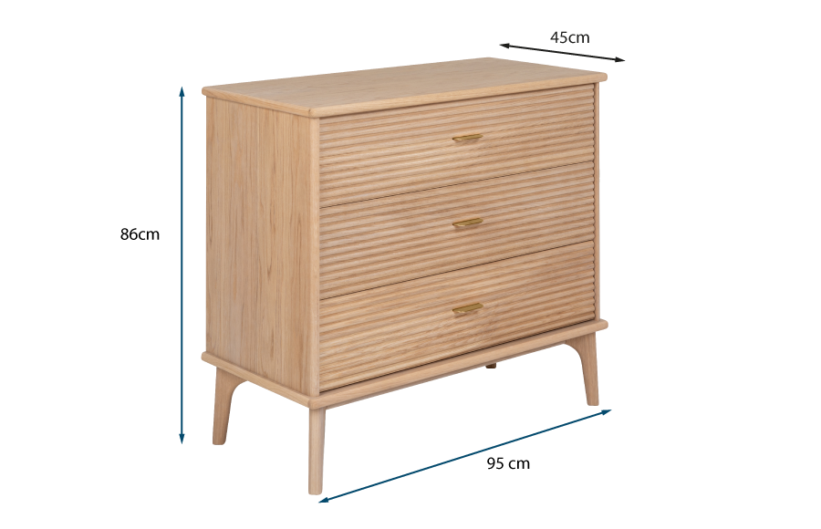 Kendal 3 Drawer Dresser