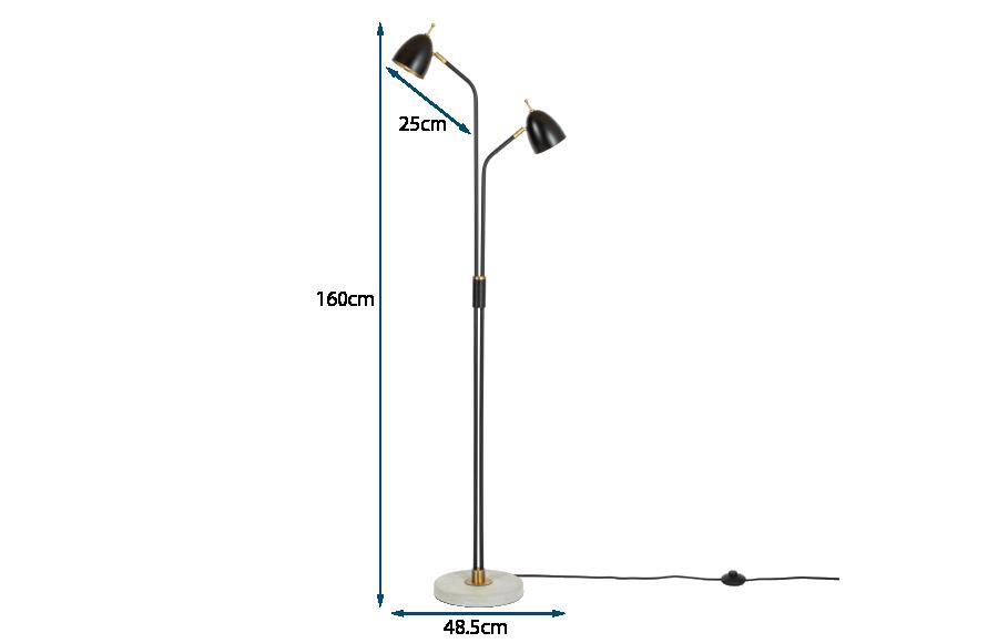 Felix Two Headed Floor Lamp