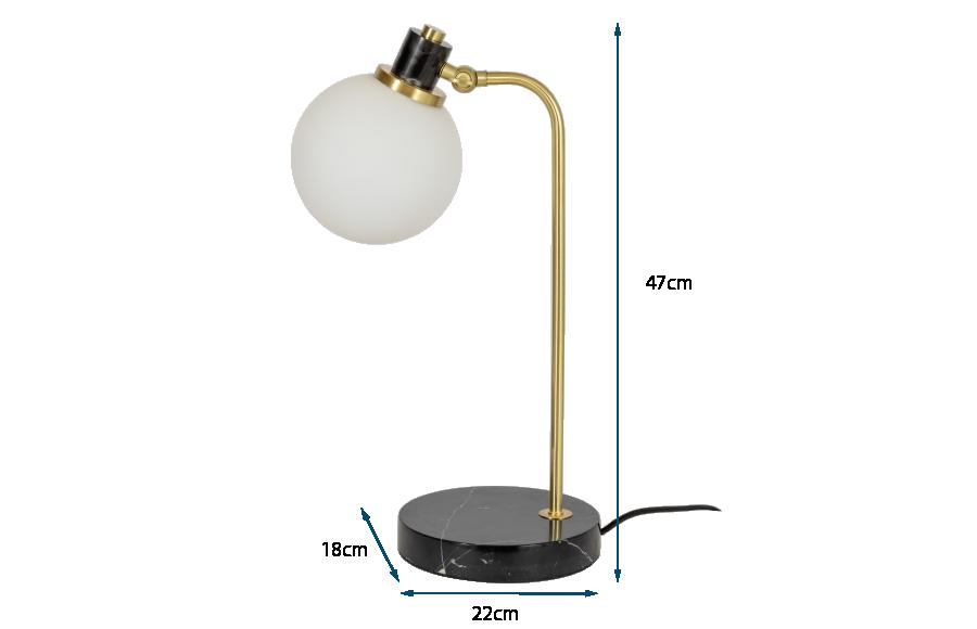 Globe Glass Desk Lamp