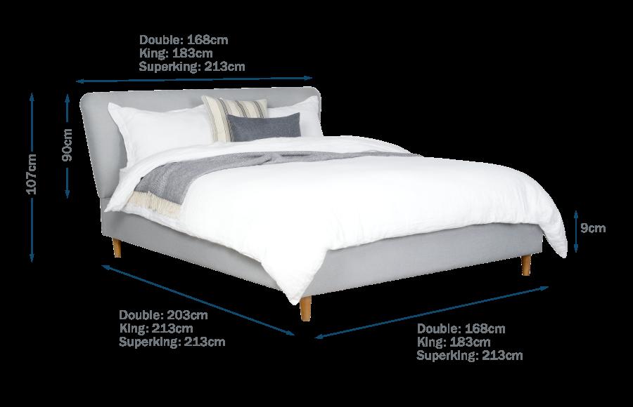 Bardot Bed Technical Drawing