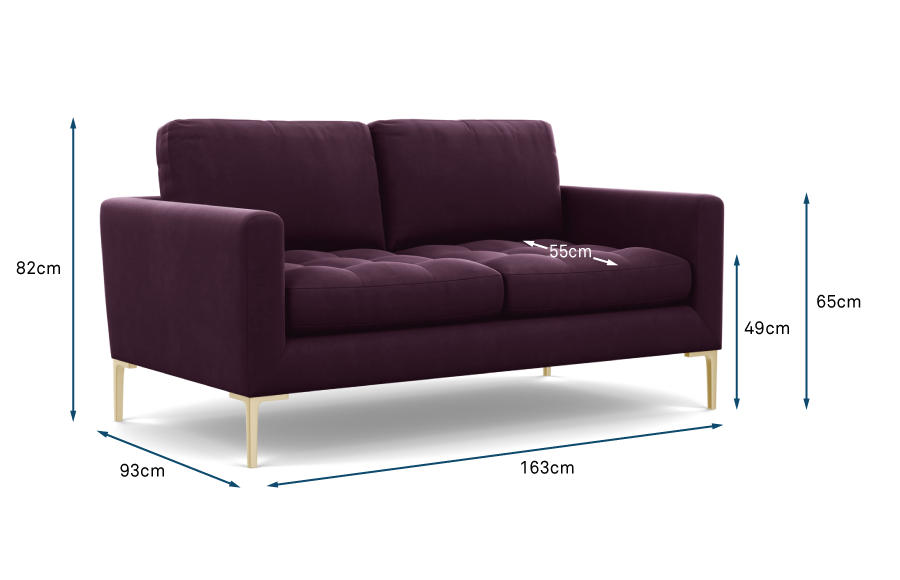 Eton 2 Seater Sofa Technical