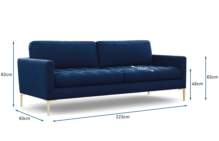 Eton 4 Seater Sofa Technical
