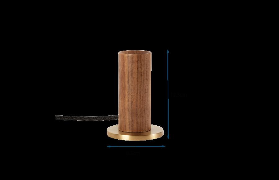 Knuckle Table Lamp Walnut