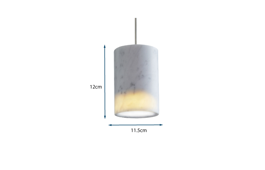 Solid Pendant Cylinder Marble