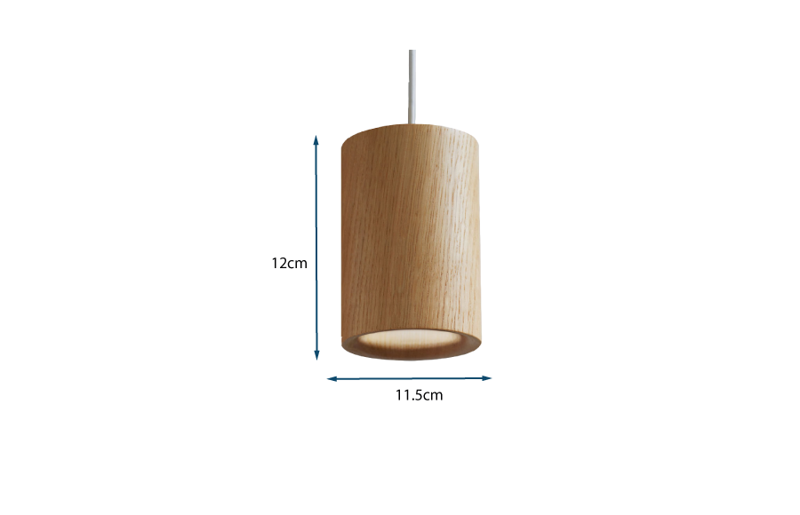 Solid Pendant Cylinder Wood