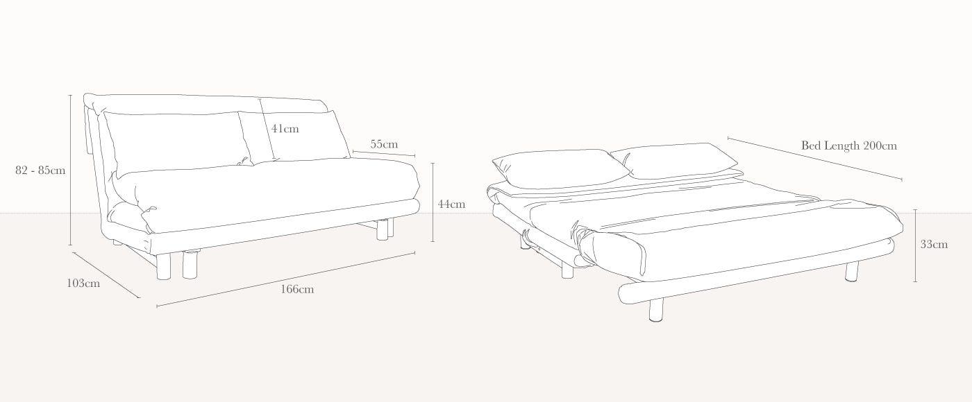 Multy Sofa Bed Technical Drawing