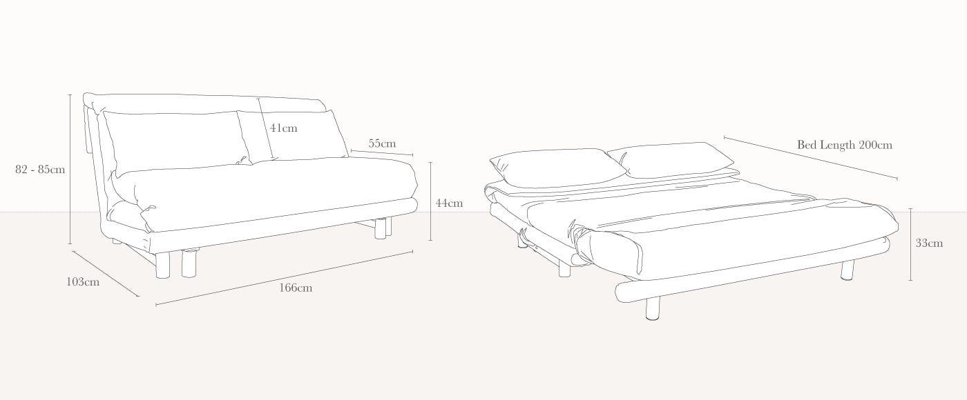Ligne Roset Multy Premier Sofa Bed Heal S