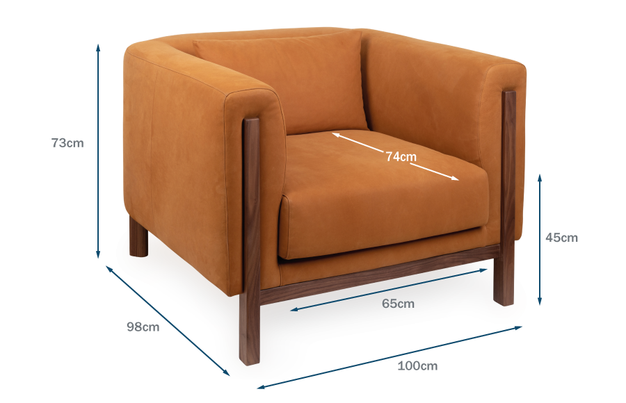 Massimo Armchair Technical Drawing