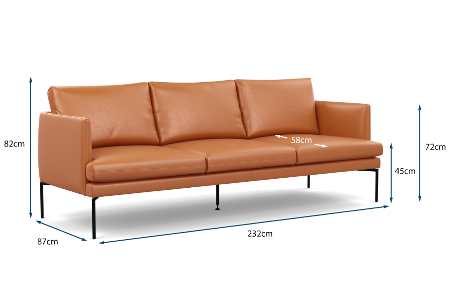 Matera 4 Seater Sofa Technical