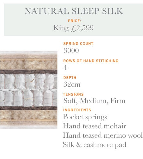 Natural Sleep Silk Mattress