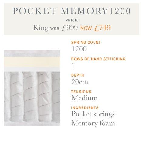 Pocket Memory Mattress - Spring Offers 2017