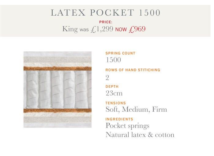 Latex Pocket 1500 Mattress - Summer Sale 2017