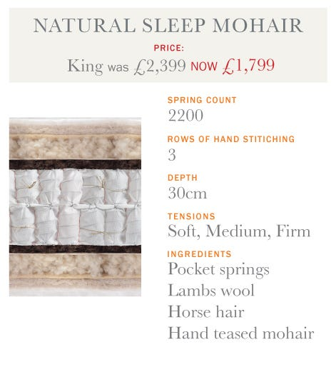 Natural Sleep Mohair Mattress -Summer Sale 2017