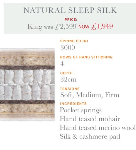 Natural Sleep Silk Mattress - Summer Sale 2017