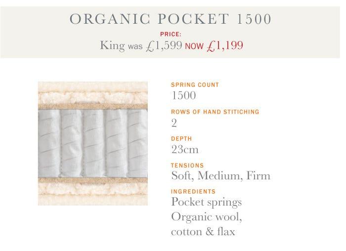 Organic Pocket 1500 Mattress - Summer Sale 2017