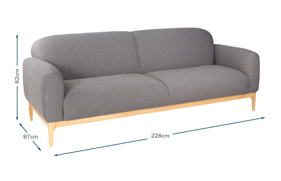 Morten 3 Seater Sofa Technical