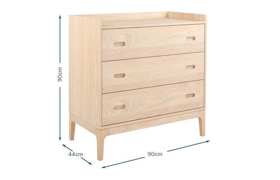 Morten 3 Drawer Chest Technical