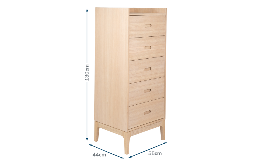 Morten Tall Five Drawer Unit Technical