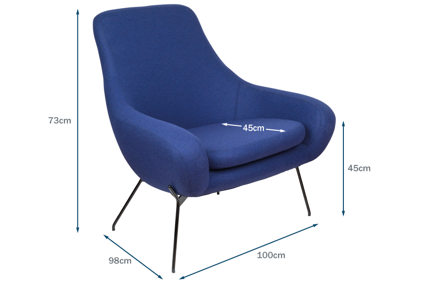 Noomi Armchair Technical Drawing