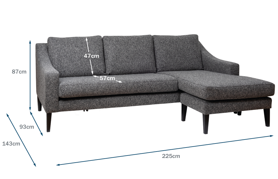 Richmond Corner Chaise Technical Drawing