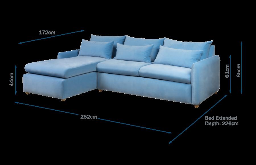 Pillow Medium Left Hand Corner Chaise Sofa Bed Technical