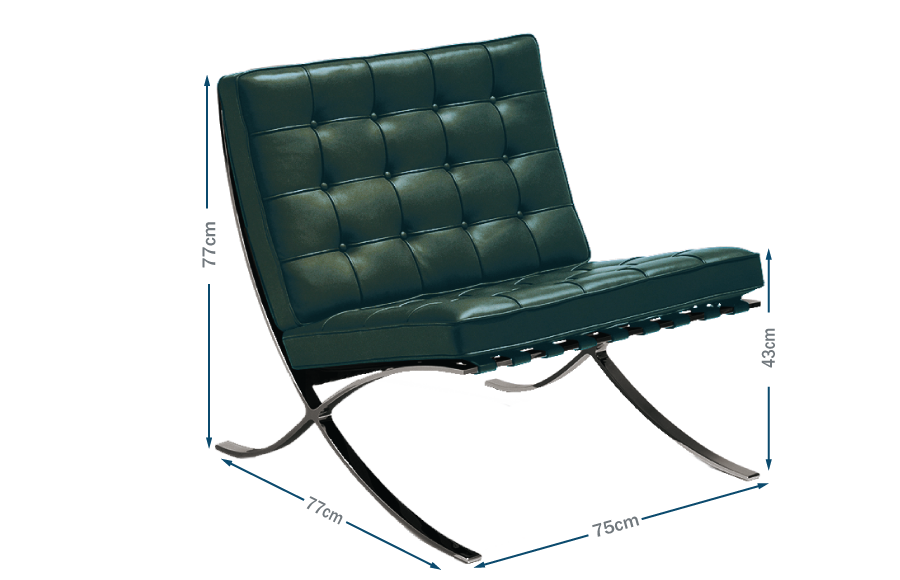 Barcelona Relax Chair Green Leather Bauhaus Special Edition