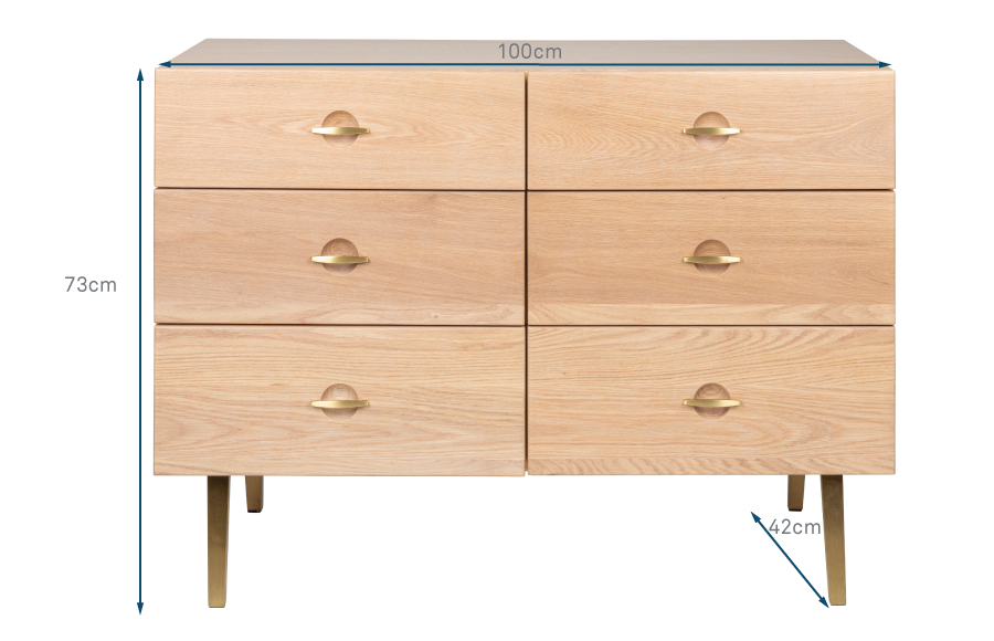 Crawford Chest of 6 Drawers