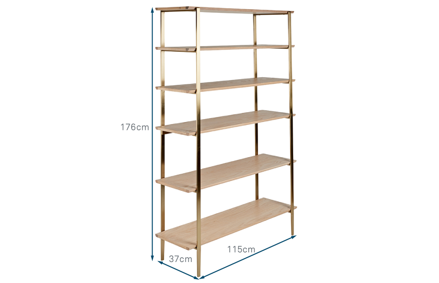 Crawford Shelving Unit Wide