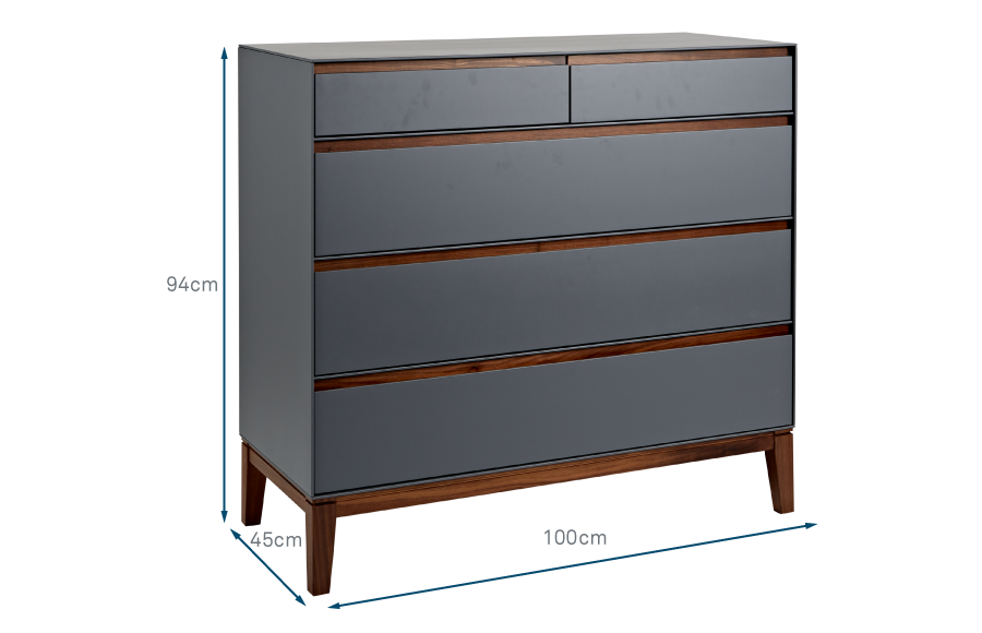 Lars 5 Drawer Chest Wide