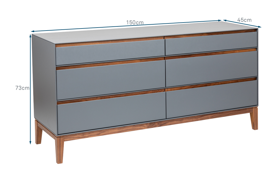 Lars 6 Drawer Chest Wide