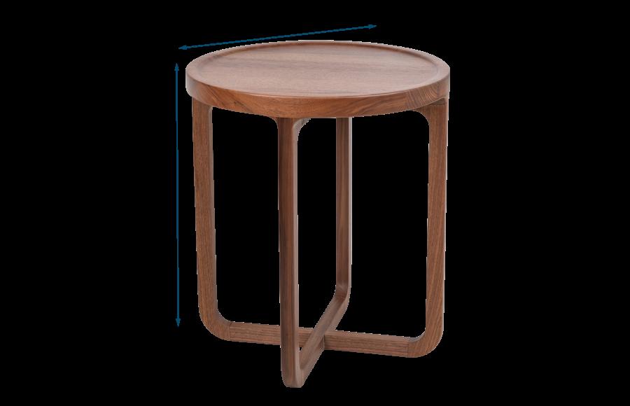 Anais Side Table Walnut