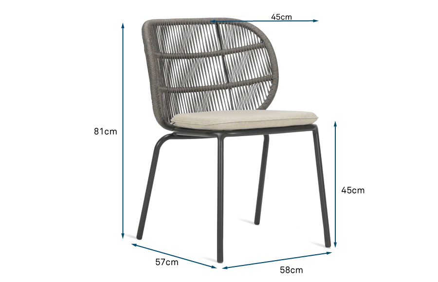 Kodo Outdoor Dining Chair Almond