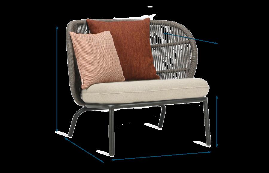 Kodo Outdoor Lounge Chair Almond