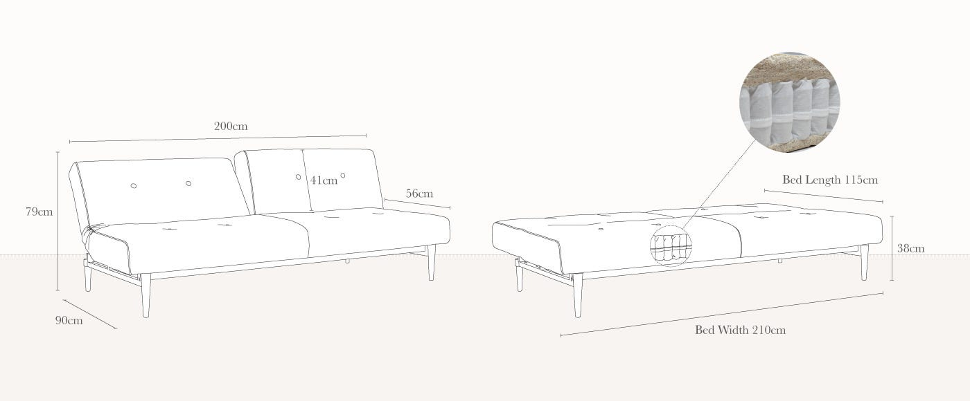 Sofa Bed Dimensions Specifications Refil Sofa