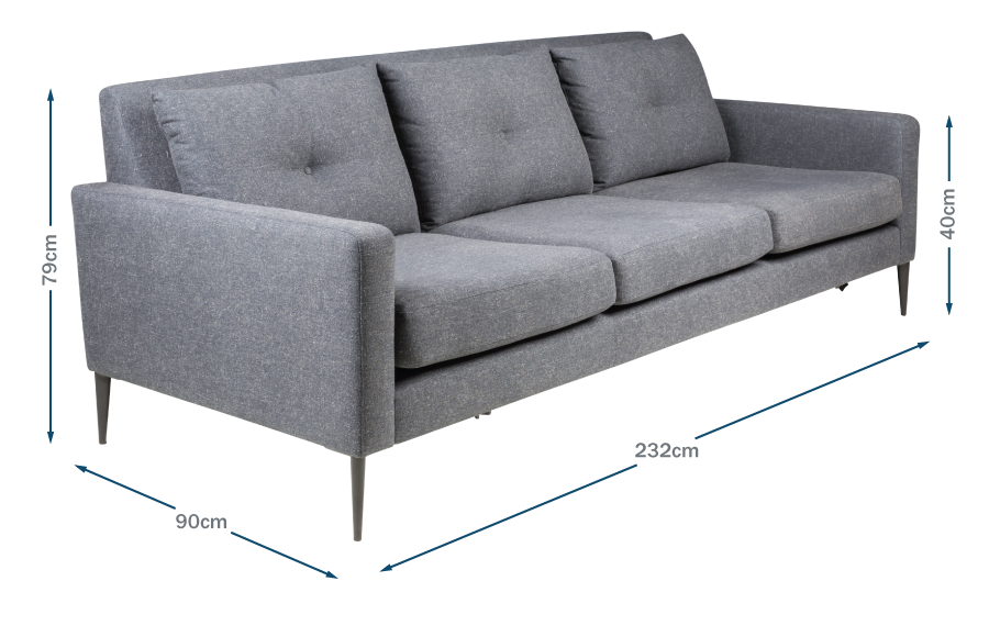 Brunel 4 Seater Sofa Technical