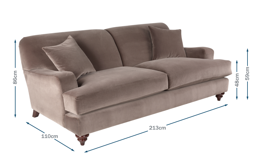 Hampstead 4 Seater Sofa Technical
