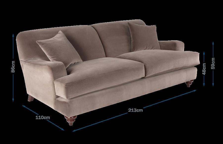 Hampstead 4 Seater Sofa Technical