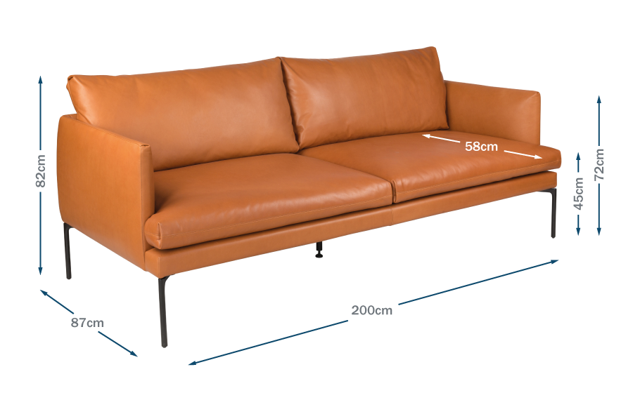 Matera 3 Seater Sofa Technical