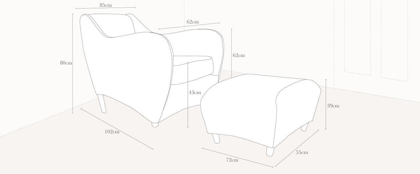 specification balzac lounge chair designer