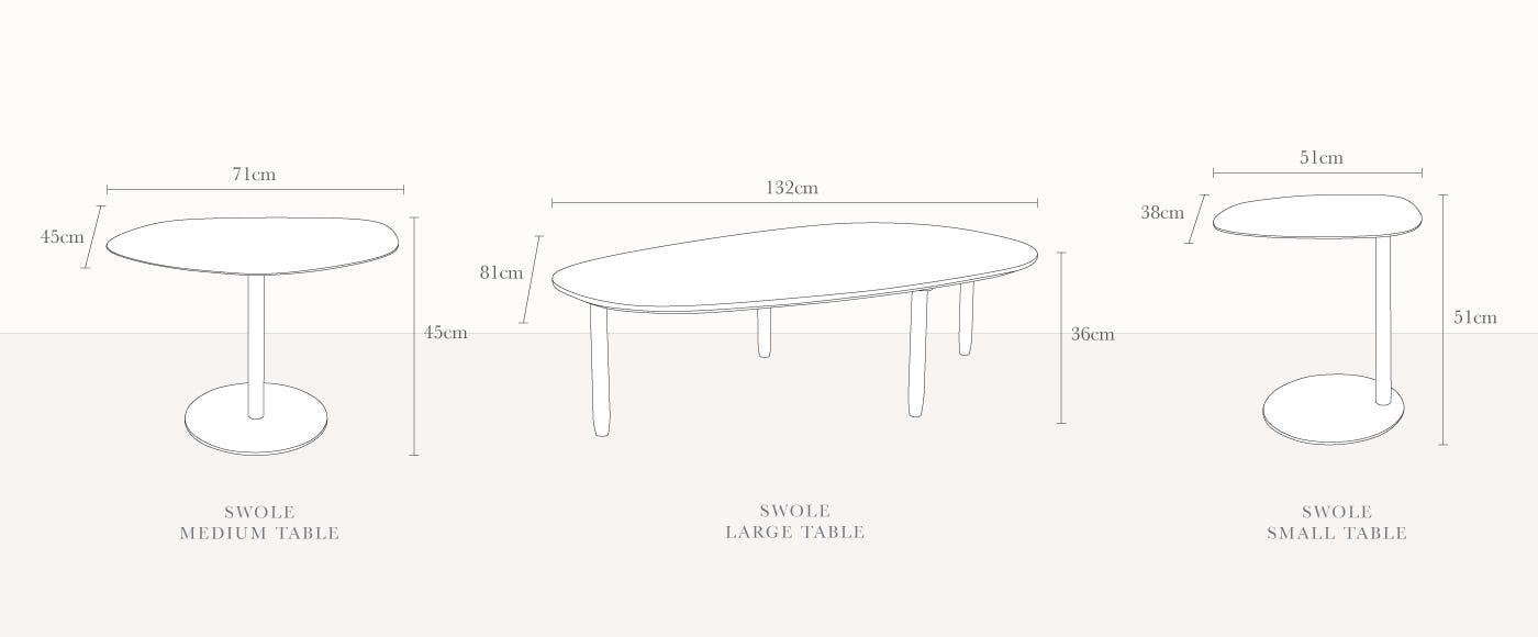 Blu Dot Swole Small Table Heal S