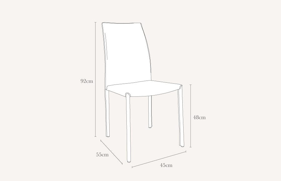 Buffalo side chair