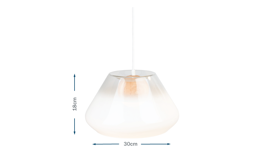 Fume pendant glass wide