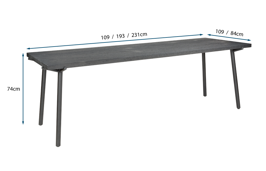 Branch Dining Table Black Stain