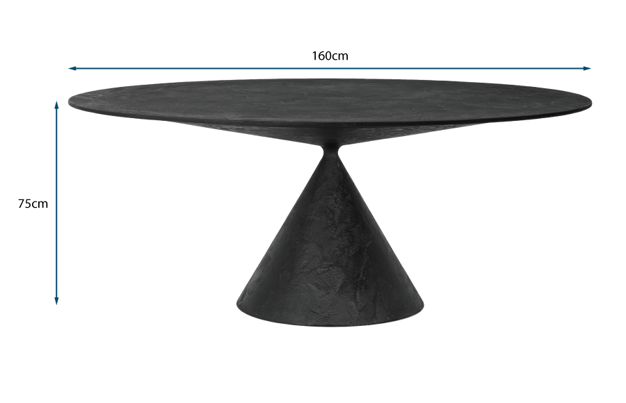 Clay Round Table - Lava Stone