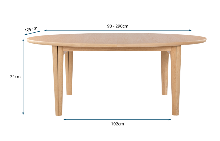 Ellipse Extending Dining Table