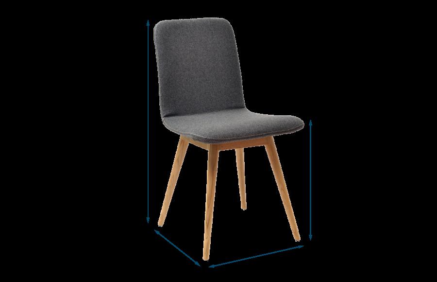 Ena Chair Oak & Grey Facet Felt
