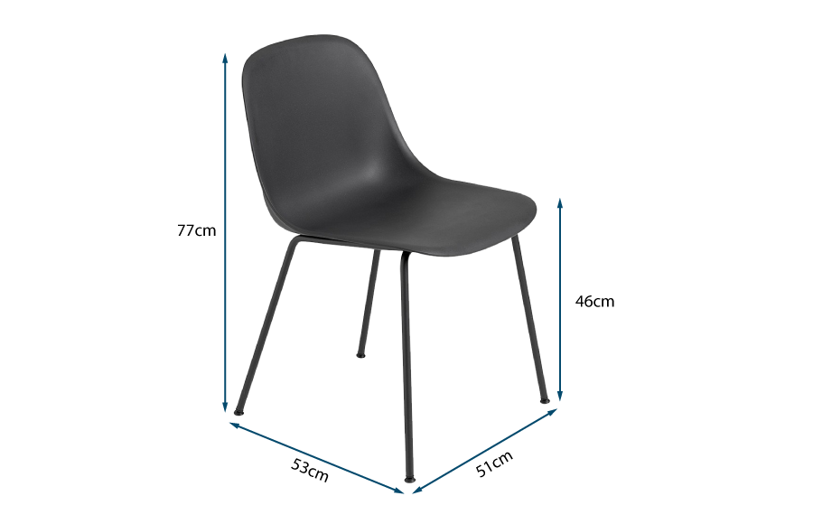Fiber Side Chair Tube Base
